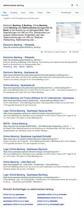 """In den Suchergebnissen sind die Seiten, die die Suchintention am besten treffen. Die """"Ähnlichen Suchanfragen"""" helfen mit weiteren Ideen weiter."""