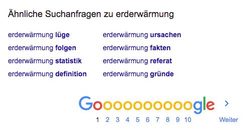 Was sagt Google zum Thema?